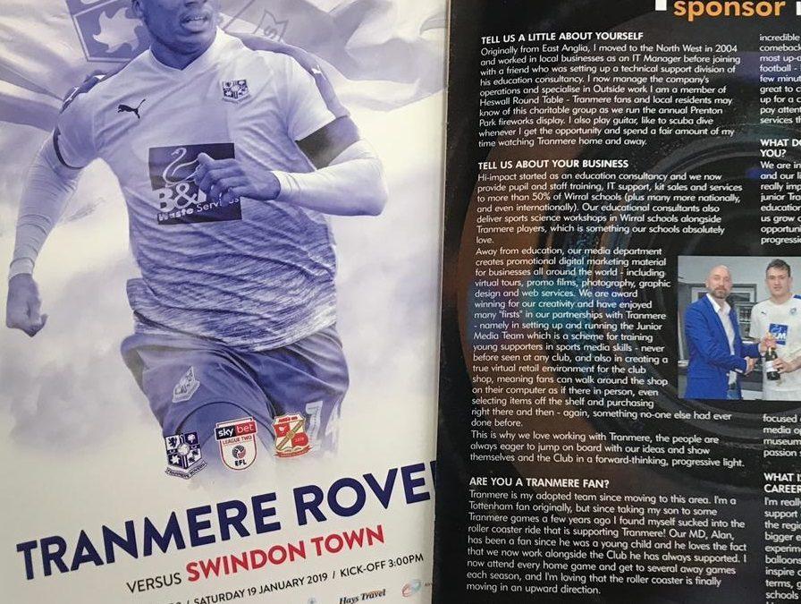 Tranmere Rovers Sponsor Interview: Simon Sloan – hi-impact media