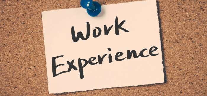 Tips for work experience placements