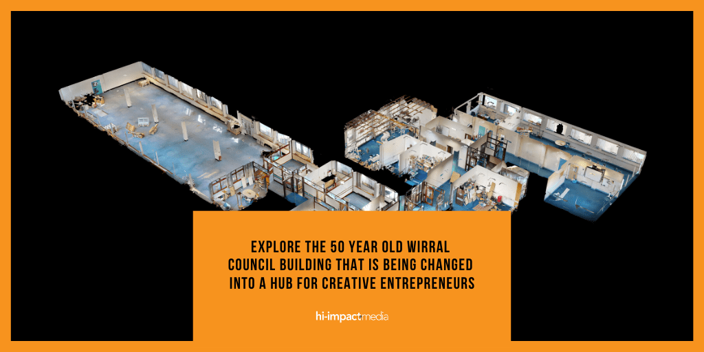 Explore the 50 year old Wirral Council Building that is being changed into a hub for Creative Entrepreneurs